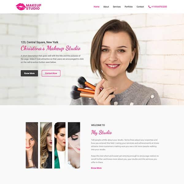 makup-studio-business-website