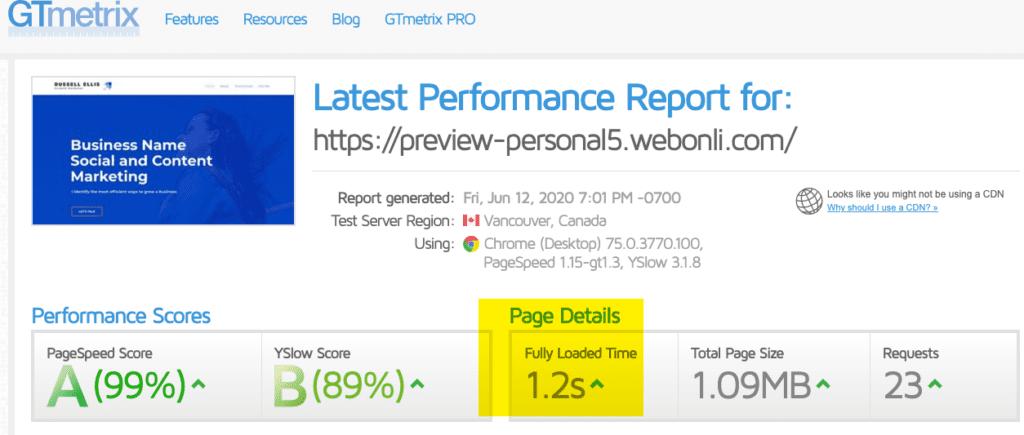 Marketing Website Speed