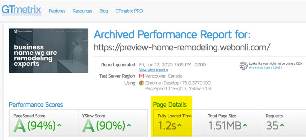 Remodeling Website Speed