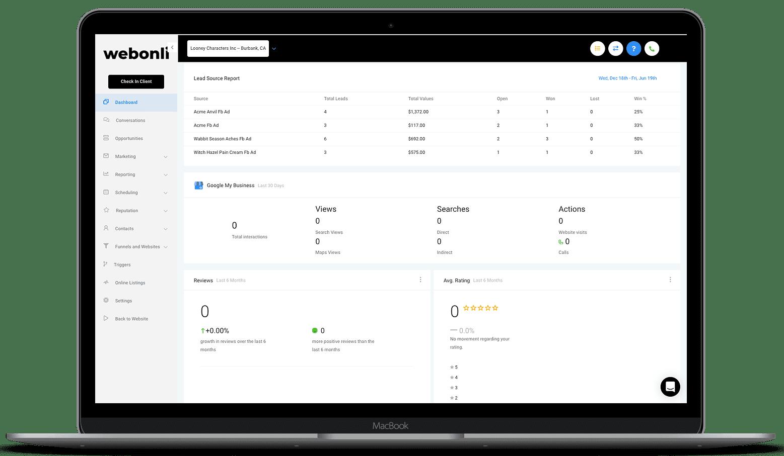 Lead Tracking Webonli
